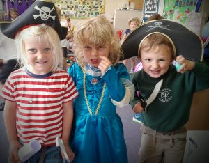 Teaming up to make the grown ups walk the plank! Scary stuff!